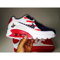 Women Air Max 90 red pink silver