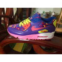Women Air Max 90  green flower