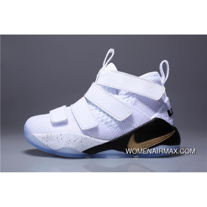 sale retailer 47e29 1a5bd Kids Nike Lebron Soldier 11 2018 White New Year Deals