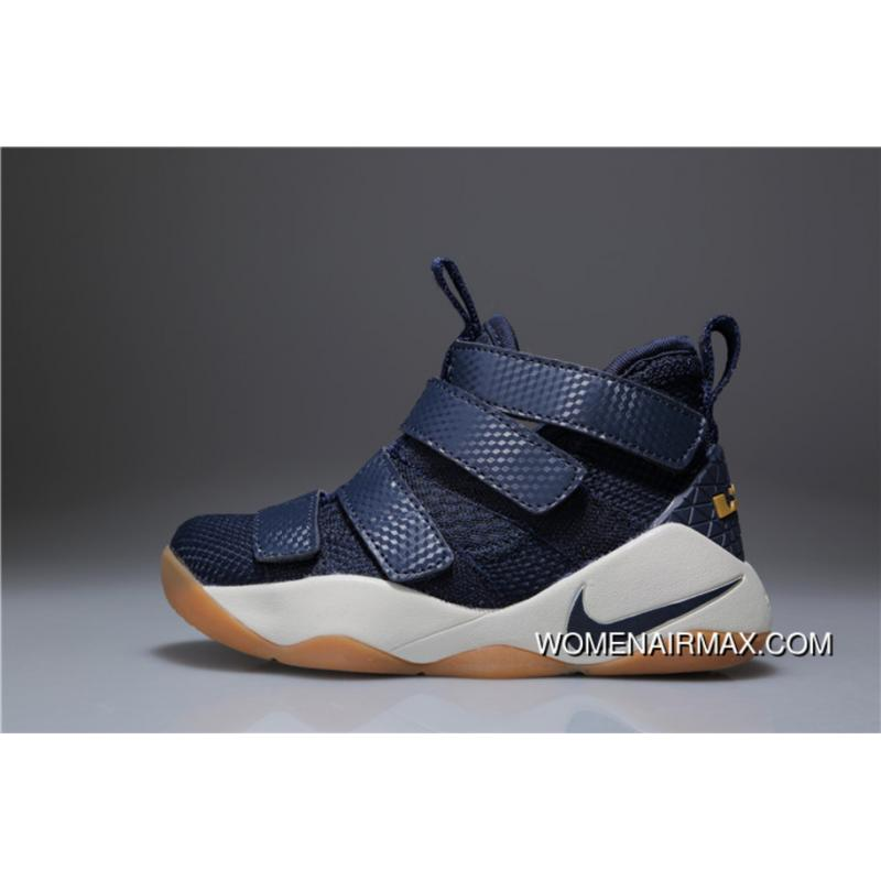 promo code 558b5 b3a77 Kids Nike Lebron Soldier 11 Navy Blue 2018 Outlet