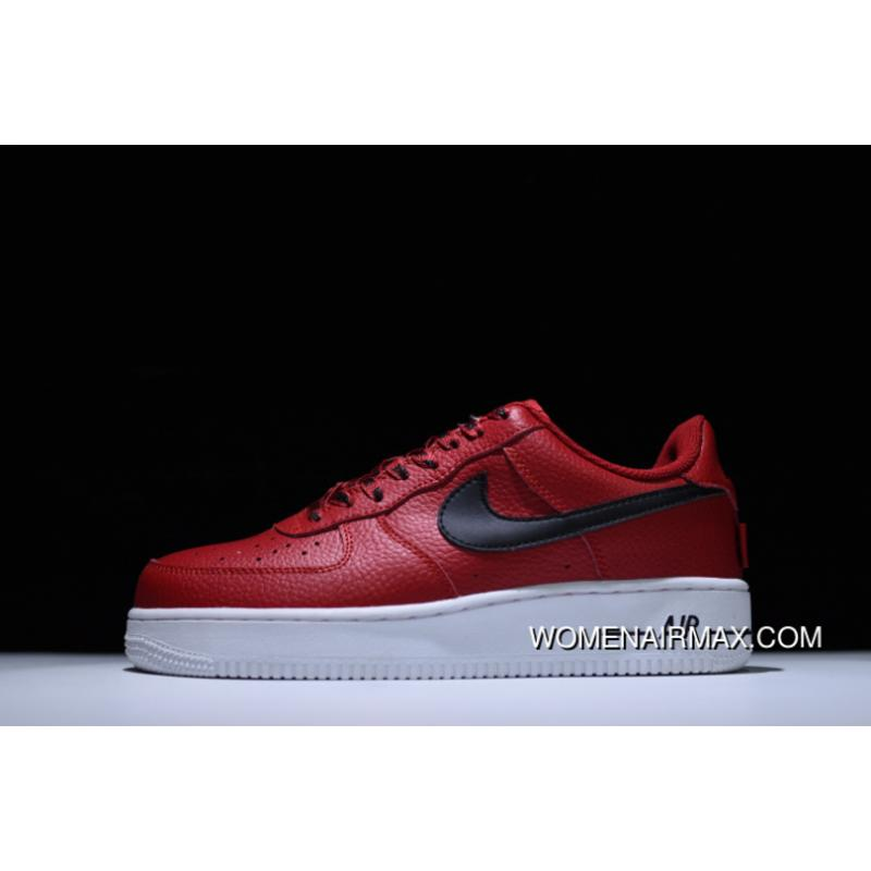 dfb61c166a NBA X Nike Air Force 1 Low 'Rockets' Red/Black New Release, Price ...