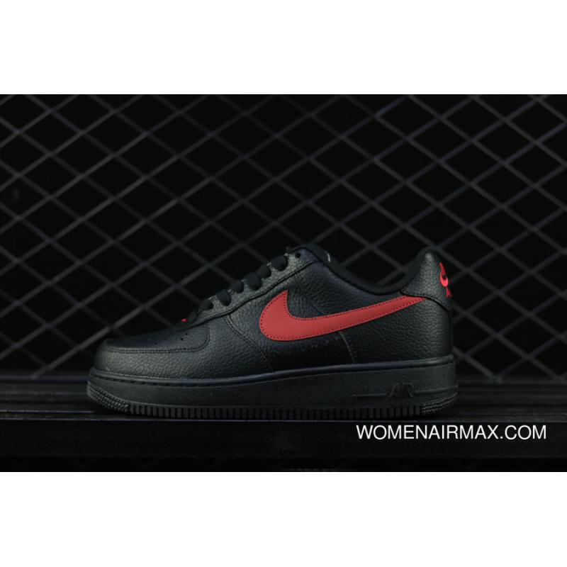 new style 7a150 14793 USD  87.25  246.44. Nike Air Force 1 Low Black Black-Gym Red ...