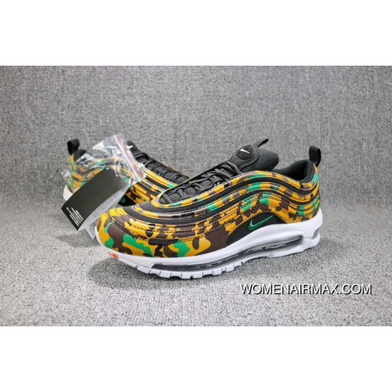 the latest b97d7 1d350 ... Nike Air Max 97 PREMIU QS Camo Bullet UK Limited Zoom Running Shoes Men  Shoes AJ2614 ...