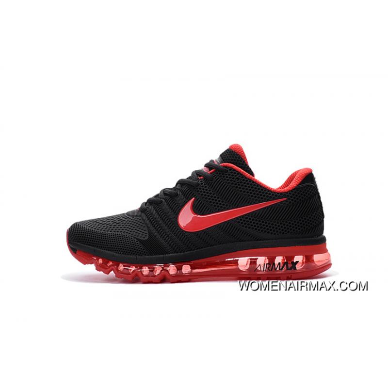 Black Red Nike AIR Max 2017 PLASTIC White And Black 2.0 Nanotechnology KPU Material Durable Non rupture New Style
