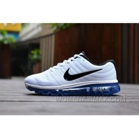 Authentic Nike Air Max 2017 White Black Royal Blue Cheap To Buy Nm4we