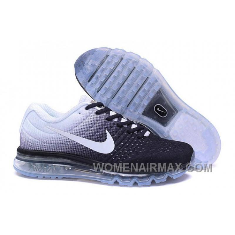 best service f185e c7be2 Authentic Nike Air Max 2017 Black White White For Sale KrhErej