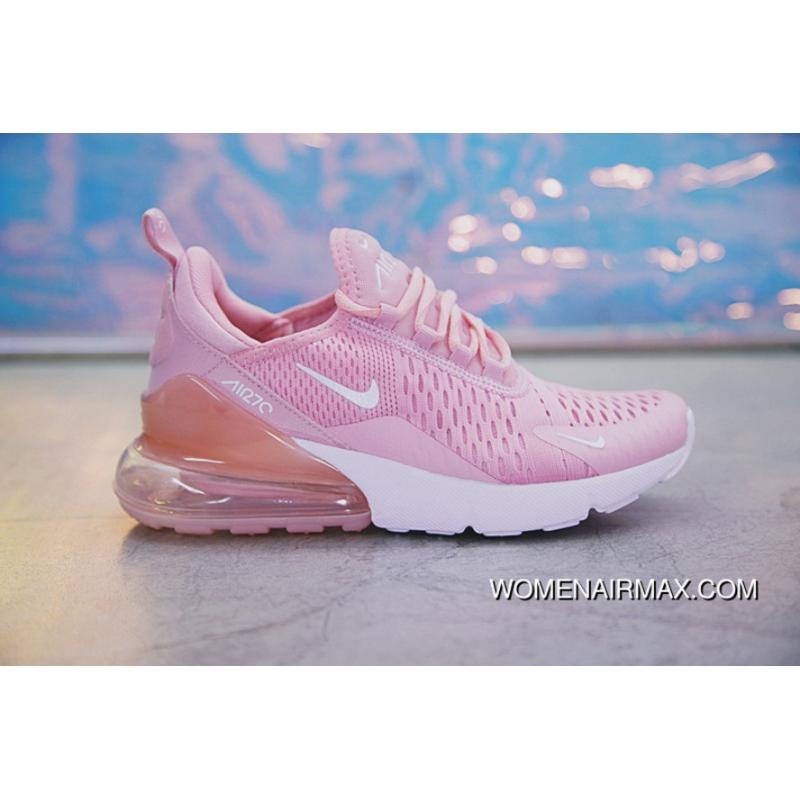 free shipping 4d7c8 a6ee7 ... canada 18ss nike air max 270 ah8050 610 pink white women free shipping  1510a 06eef