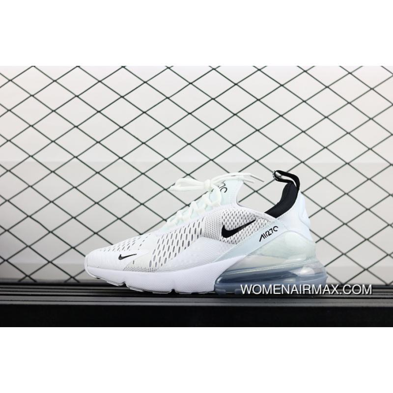sports shoes 5622d c9bb5 USD  87.14  243.98. Nike Air Max 270 Pure White And Black Men Casual Sport  Zoom Running Shoes AH8050 ...