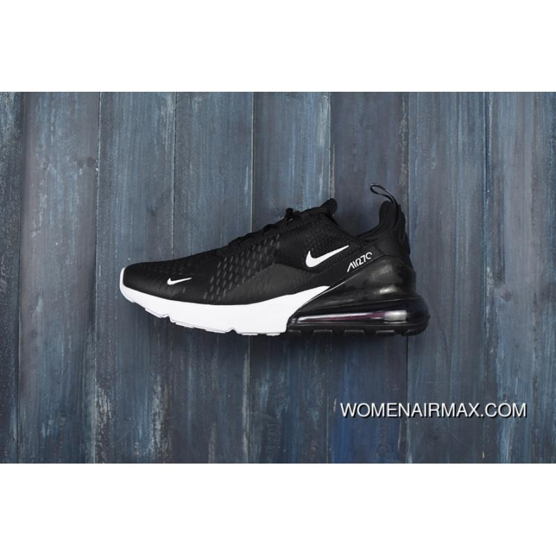 outlet store 3e3cc b6c01 ... AH8050-002 Sneakers Womens Mens Running  on wholesale Nike 270 Air Max  270 Half-palm Cushion Black And White AH8050- ...