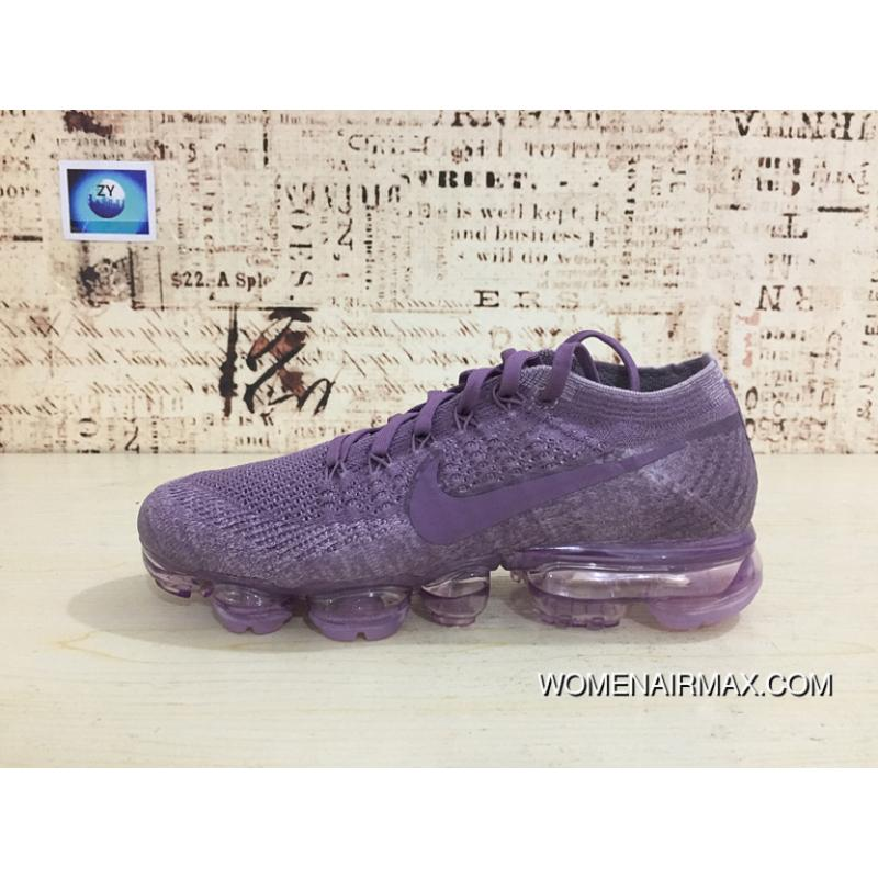 pretty nice 0650e a1f5d ... closeout pan outsole 2018 nike zoom flyknit airmax 2018 knit woven  running shoes bubbles flyknit purple