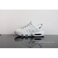 Nike Air Max 95 Zoom Retro Running Shoes All White Women Shoes And Men Shoes  Discount