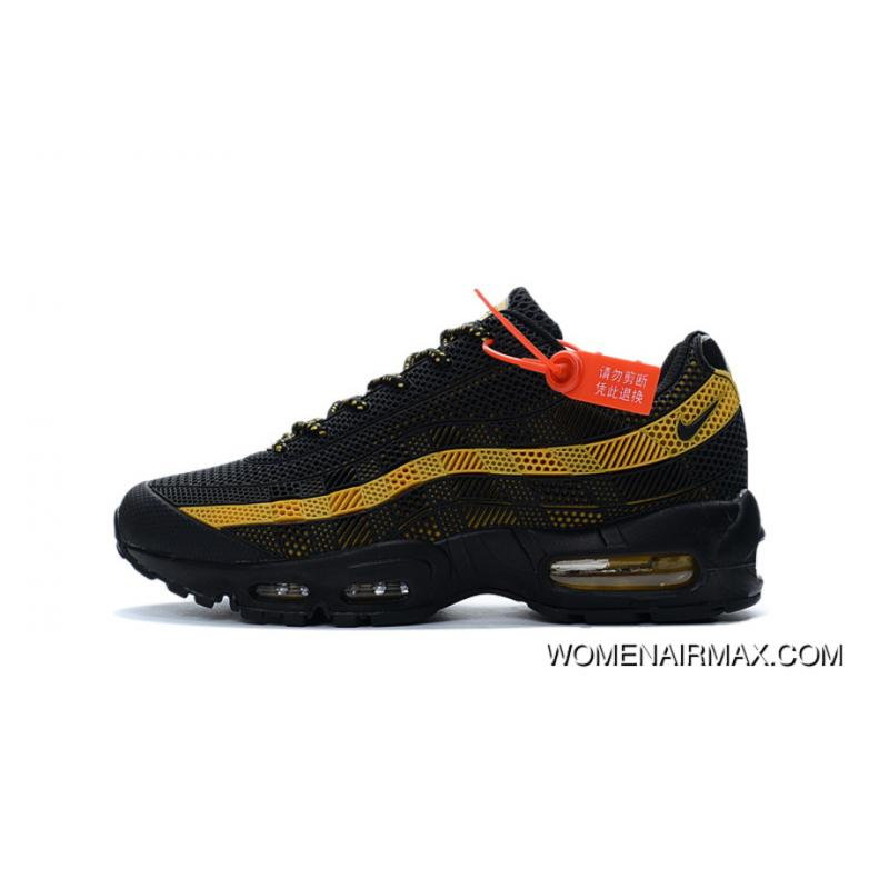 separation shoes 85f65 9f4b8 Hot Sale Nike AIR MAX 95 Classic Retro Shoes Nanotechnology KPU Material  Durable Non-rupture Black Gold Outlet