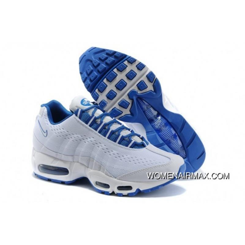 WomenMen Nike Air Max 95 BlueWhite New Release