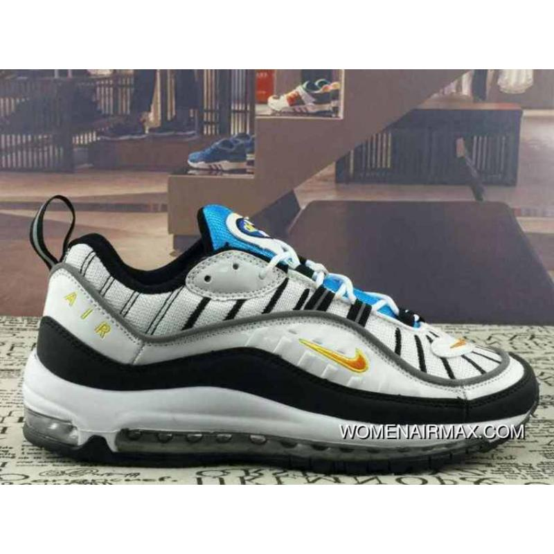 Nike Air Max 98 Retro Zoom All match Jogging Shoes Navy Blue