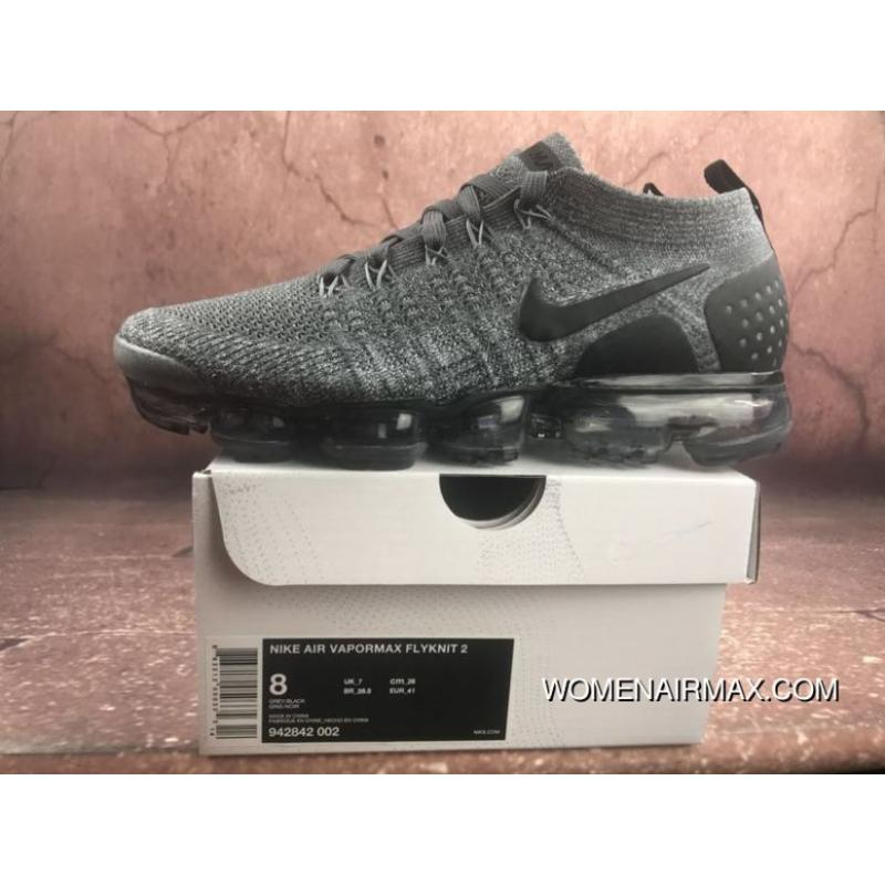 check out 015df e81aa Nike 2018 2.0 Zoom Air VaporMax Flyknit Black Grey 942842-002 ...