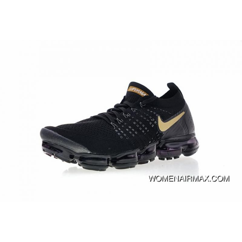 finest selection 54720 93588 Men Shoes Nike Air VaporMax Flyknit 2.0 W 2.0 Zoom Air All-match Jogging  Shoes2.0 All Black Gold Hook 942842-009 New Year Deals