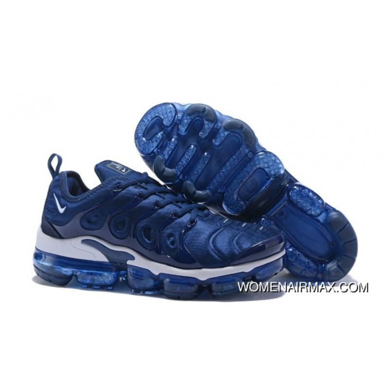 reputable site 6a2fc 5aaa2 2018 Nike Vapormax Plus Hybrid Sneaker Royal Blue White For Sale