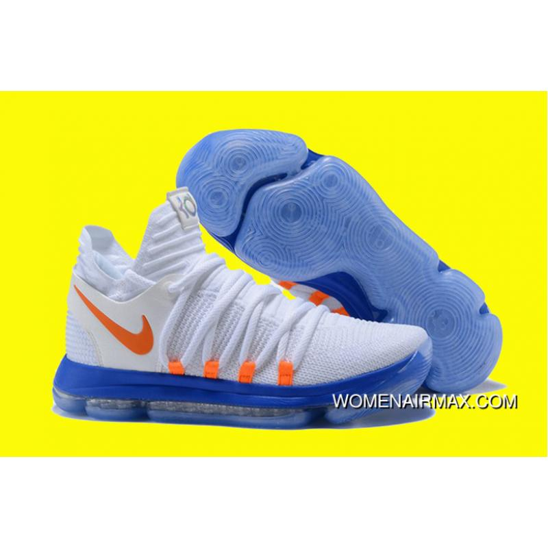 factory authentic 828e0 8a588 ... coupon for nike kd 10 white blue orange top deals 6c146 13ea4 ...