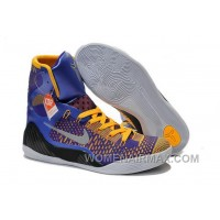 Buy Cheap Nike Kobe 9 2014 High Tops Blue Yellow Black Mens Shoes New Style J5t8KSA