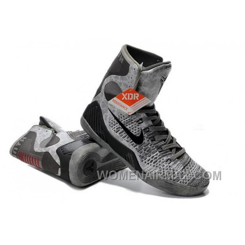 Buy Cheap Nike Kobe 9 2014 High Top Grey Black Mens Shoes