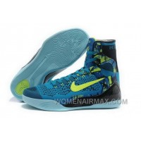 Buy Cheap Nike Kobe 9 High 2015 Blue Green Mens Shoes Authentic BnPS2h