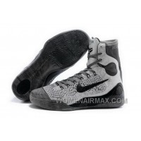 Buy Cheap Nike Kobe 9 High 2015 Grey Black Mens Shoes Lastest F4JmmWe