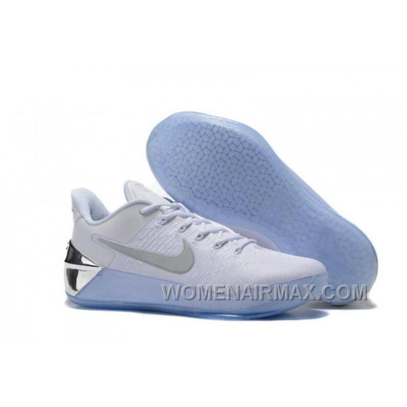 Cheap Nike Kobe A.D. 12 Limited Edition White Silver Free Shipping IEythS  ...