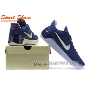 Nike Kobe A.D. Sneakers For Men Low Navy Blue White New Style PRmSp