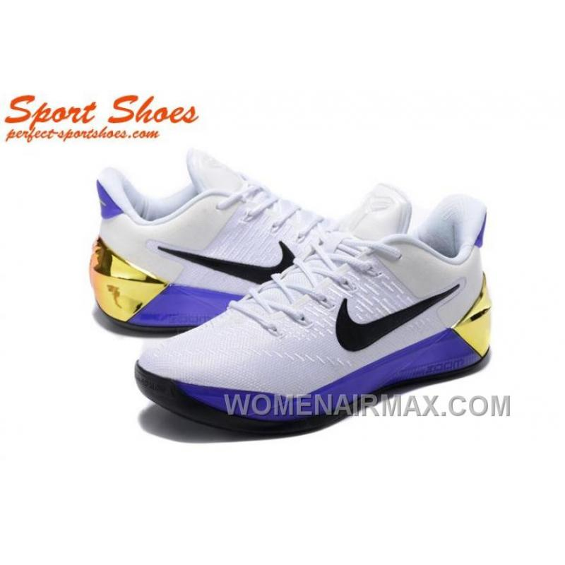Nike Kobe A.D. Sneakers For Men Low White Purple Online Bet7Khb ... 92121d538b7b