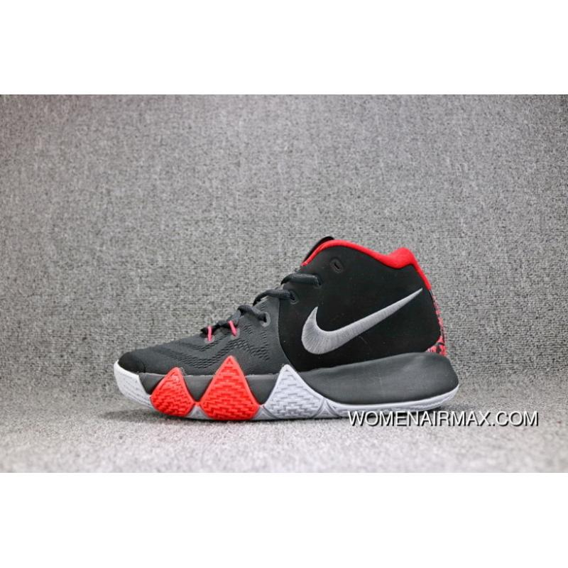 0ba25b80b65e ... discount nike kyrie 4 irving 4 bhm black and red silver shoes men  943807 005 new