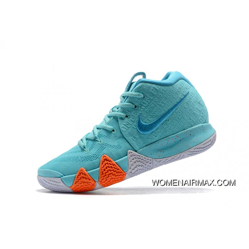 """promo code 779cb b74d3 Mens Nike Kyrie 4 """"Power Is Female"""" Light Aqua/Neo Turquoise Shoes New Year  Deals"""