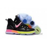 Nike LeBron 14 SBR Black Rainbow Multi Color Lastest