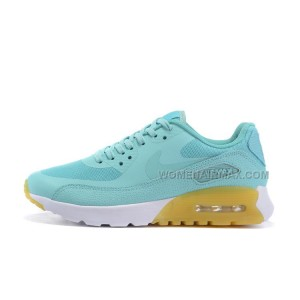 Air Max 90 Ultra Essential Womens Shoes Mint/White-Yellow