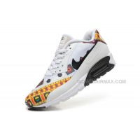 Nike Air Max 90 Hyp Prm 2015 Dragon White Black Yellow Womens Shoes Outlet