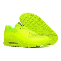 Nike Air Max 90 Womens Shoes Flag Series Usa Fluorescent Green Lovers Shoes Hot Sale