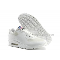 Cheapest Nike Air Max 90 Flag Usa Womens Shoes Classic All White Lovers Shoes