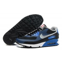 Nike Air Max 90 Womens Sneakers Flag Usa Blue Black Silver Lovers Shoes On Sale