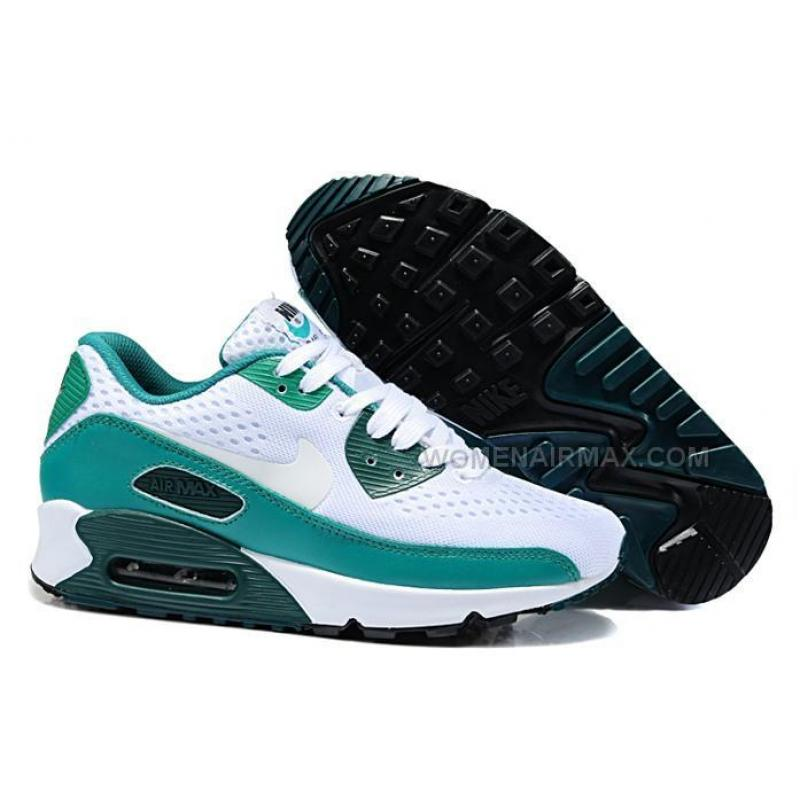 nike air max 90 em womens shoes 2014 online white green