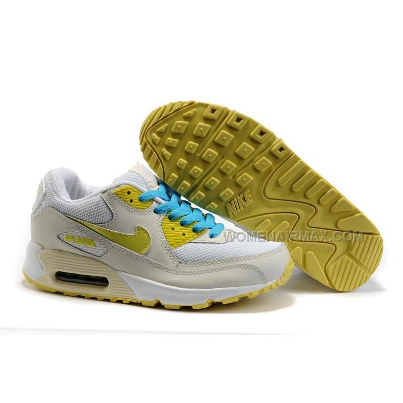 Nike Air Max 90 Womens Shoes Wholesale Beige White Yellow ...