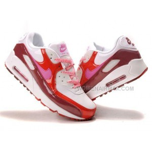 Nike Air Max 90 Womens Shoes Wholesale Pink Red White