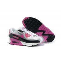 Nike Air Max 90 Womens Shoes Wholesale Slivery Pink Black White