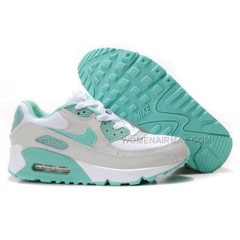 Nike Air Max 90 Womens Shoes Wholesale White Gray Green