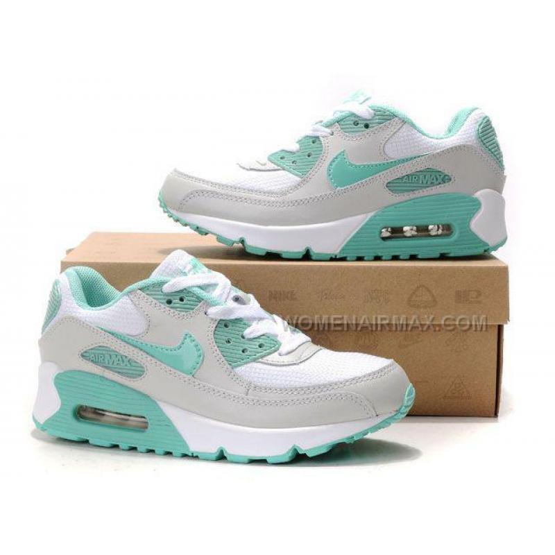 nike air max 90 womens shoes wholesale white gray green. Black Bedroom Furniture Sets. Home Design Ideas