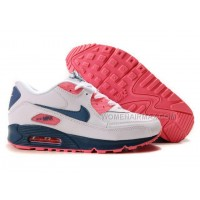 Nike Air Max 90 Womens Shoes Wholesale Pink White Blue