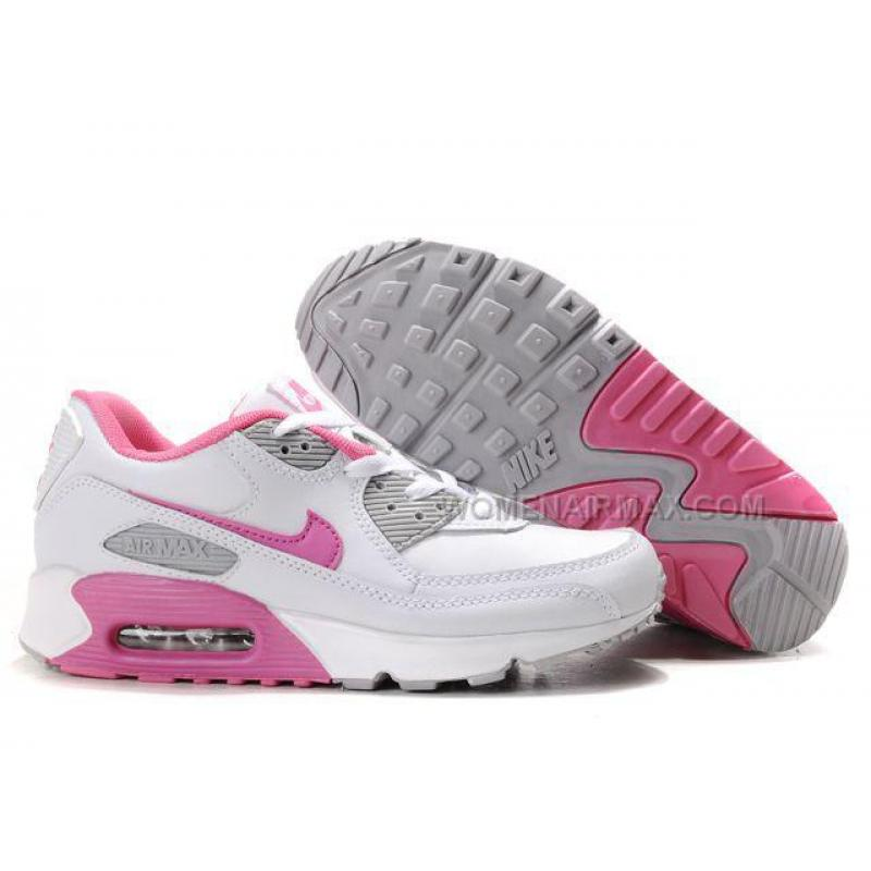 Wholesale Price for Nike Air Max 90 Womens Shoes  White Pink Gray good price
