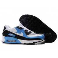 Nike Air Max 90 Womens Shoes Wholesale Black White Blue