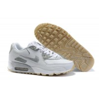Nike Air Max 90 Womens Shoes Wholesale White Sliver