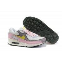 Nike Air Max 90 Womens Shoes Wholesale White Pink Yellow Brown