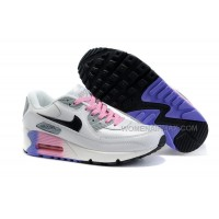 Nike Air Max 90 Womens Shoes Wholesale White Gray Pink Black