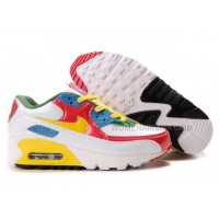 Nike Air Max 90 Womens Shoes Wholesale Red White Yellow Blue Green